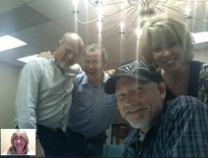 Rose Capanna, Tim Burgan, Scott Kerschbaumer, Doug Sellers, and Robin Heiple meet...again!